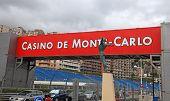 Street, Signboard And Bronze Statue, Monaco, Monte-carlo.
