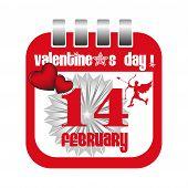 Valentine calendar sheet