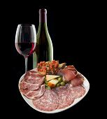 pic of antipasto  - Italian antipasto with ham - JPG