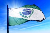 Parana (brazil) Flag Waving On The Wind