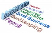 Row of personal and small business accounting services
