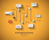 Modern Infographic template with Flat UI style. Timeline virtual rapresentation to use for data rank