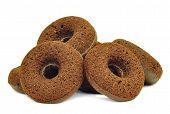 Healthy vegan donuts made with blackstrap molasses