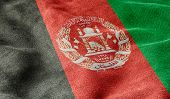 Oblique view of the Flag of Afghanistan