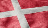 Oblique view of the Flag of Denmark