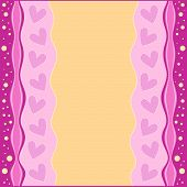 Romantic pink and orange background