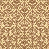 Vector vintage seamless pattern background