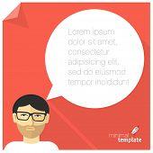 Flat design web communication vector concept.