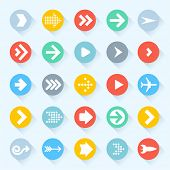 Vector arrow icon set.