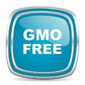 gmo free blue glossy icon