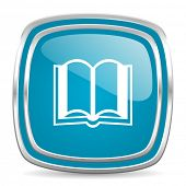 book blue glossy icon