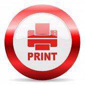 printer glossy web icon