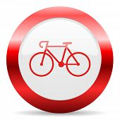bicycle glossy web icon