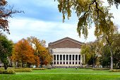 Historic Northrop Auditorium On The Campus Of The University Of Minnesota In Autumn