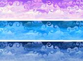 Cloudy sky weather banners poster