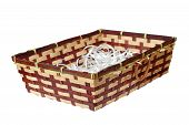 Wattle Basket On White