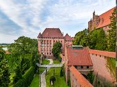 Teutonic Malbork castle in Pomerania region, Poland
