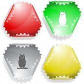 Owl. Vector sticker.