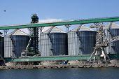 Grains storage silos