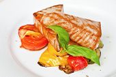 Grilled Tuna Steaks With Vegetables