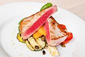 Tuna Steaks With Vegetables
