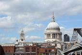 St Paul's Cathedral And City Of London School Seen From South Bank