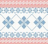 Knitted pattern with swirl and star vector illustration