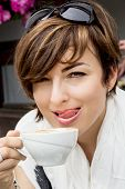 Beautiful Young Woman With Coffee