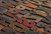 typography abstract vintage letterpress wood type  printing blocks