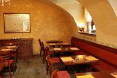 Interior Of Orange Cafe
