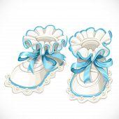 Baby blue booties