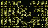 Financial Screen with Market Information