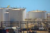 Petroleum Storage Tanks Brisbane Harbor
