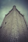Medieval stone castle, spain architecture