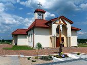 Filial Church In Dyrdach, Parish Miotek, The First Church In The Diocese Of Gliwice, Dedicated To St