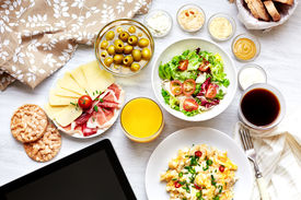 foto of continental food  - Fresh continental breakfast - JPG
