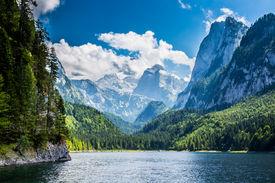 image of lp  - Beautiful lake in high mountains Alps Austria - JPG