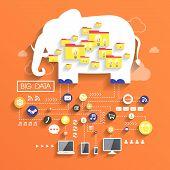 Big Data Concept In Flat Design