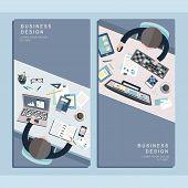 Business Design Concept In Flat Design