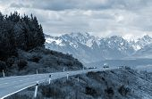 Mountain Road In South Island, New Zealand