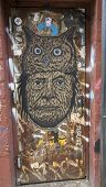 Mural art in Williamsburg section in Brooklyn