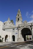 Entrance to Balboa Park and San Diego Museum of Man in San Diego, California