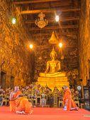 Priest Is Chanting  In Wat Suthat Thep Wararam