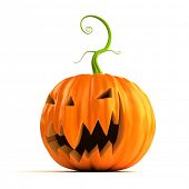 3d rendered illustration of a big, scary, pumpkin
