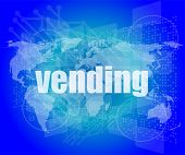 Business Concept: Vending Words On Digital Screen, 3D