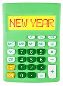Calculator With New Year On Display