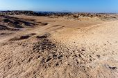 Panorama Of Fantrastic Namibia Moonscape Landscape