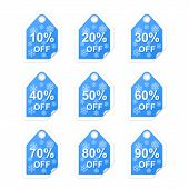 Winter Holiday Sale Tags. Vector Illustration