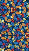 Seamless pattern with different color lips