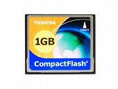Hayward, CA - October 27, 2014: Toshiba 1GB CompactFlash card